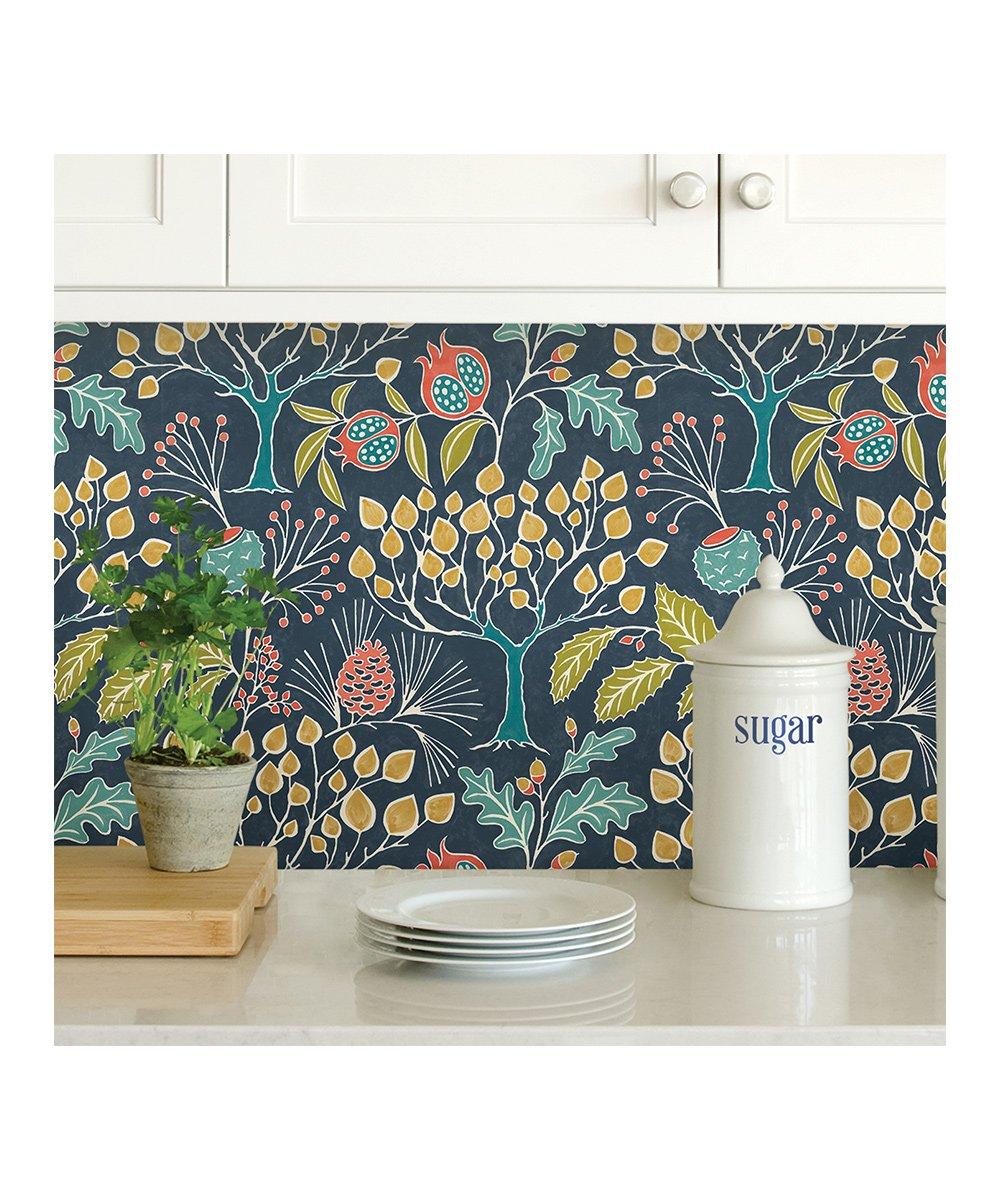 Wallpops Navy Groovy Garden Peel Stick Wallpaper Zulily In 2020 Peel And Stick Wallpaper Decor Home Decor
