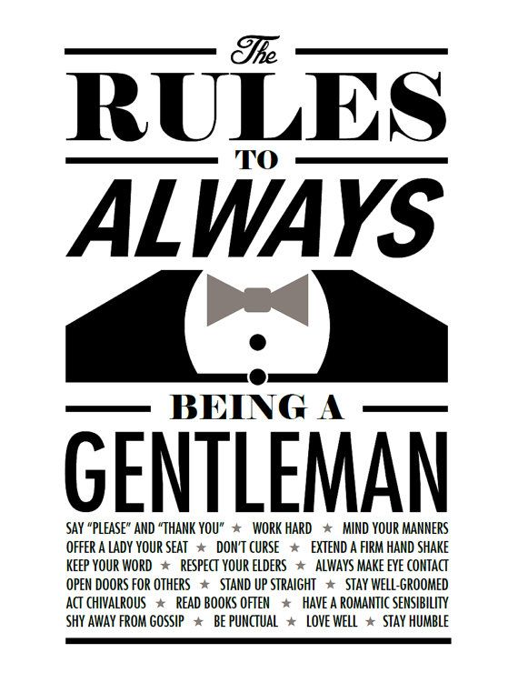 rules of being a gentleman