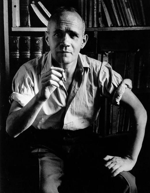 Jean Genet, the infant terrible of French literature. His existential queer novels and outlaw persona made him a legend in his own time. His vision was both transgressive and transcendent, and is best represented in works such as Miracle of the Rose (1946) and Funeral Rites (1947).
