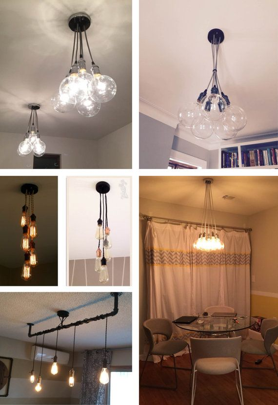 5 Cluster Any Colors Multi Pendant Light Fixture Ceiling