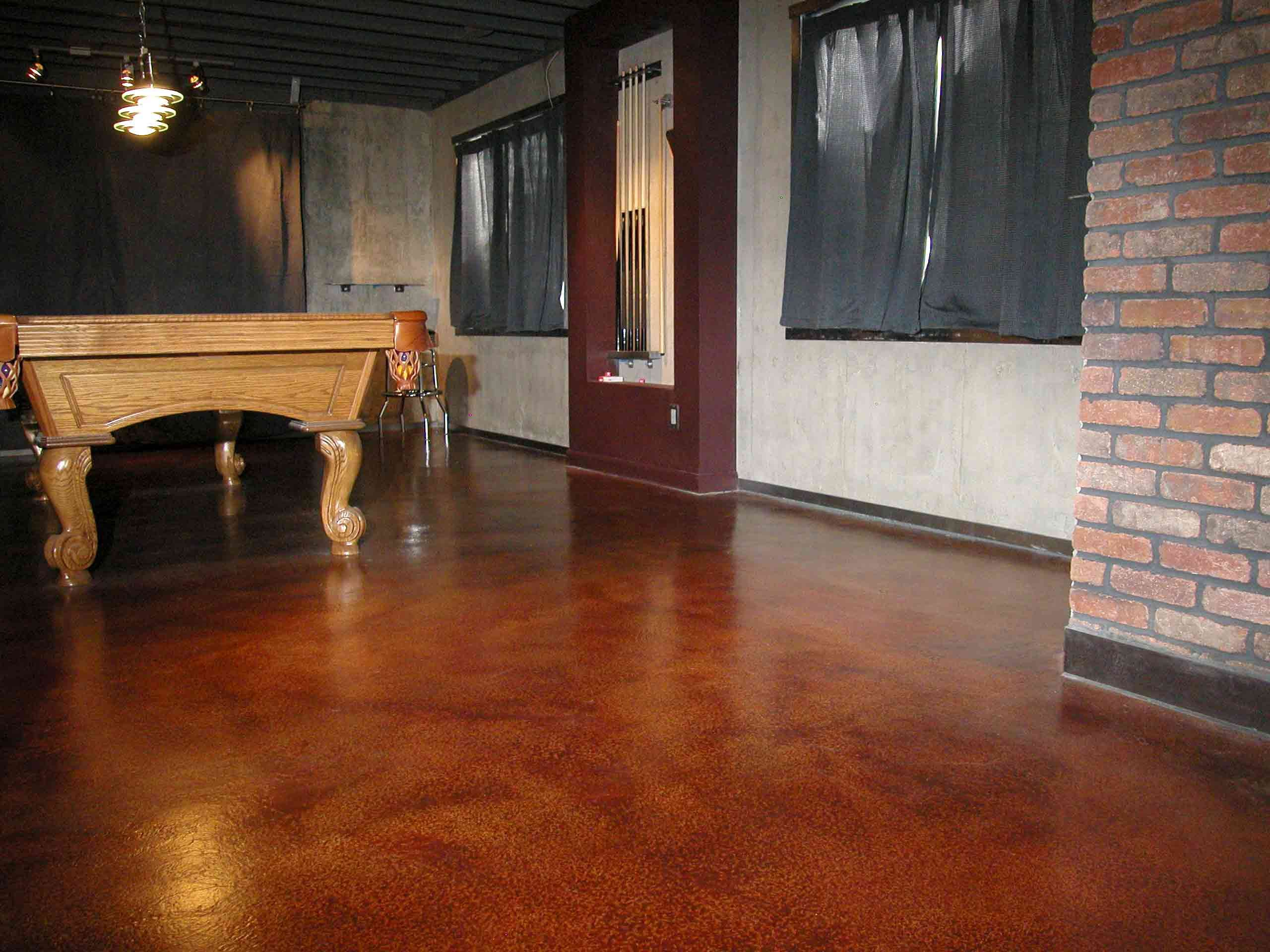 elegant preparing painted concrete floor for epoxy ideas for elegant billiards room design