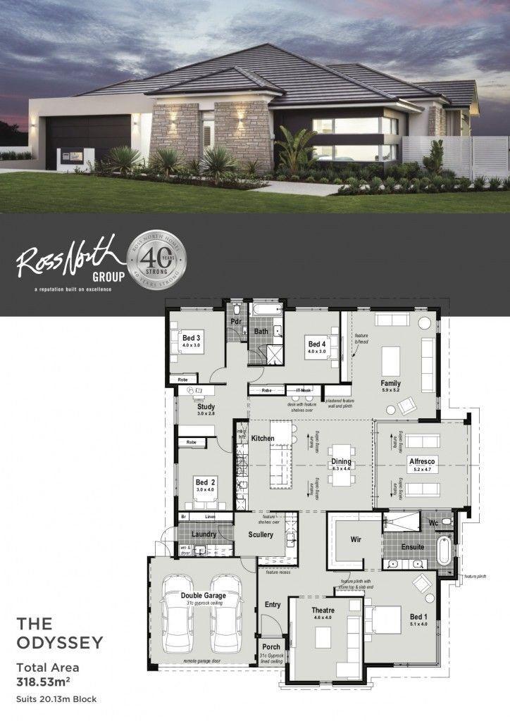 Best Modern House Floor Plans The Odyssey House Blueprints Denah Lantai Rumah Desain Rumah Eksterior