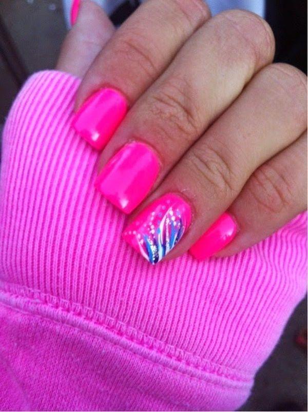 85 Hot Pink Nail Art Designs For Girls - 85 Hot Pink Nail Art Designs For Girls Pink Nails, Hot Pink