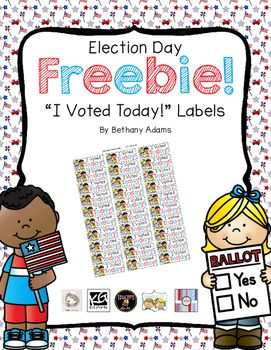 graphic regarding I Voted Stickers Printable titled Election Working day Freebie! ~* I Voted At present! Label Stickers