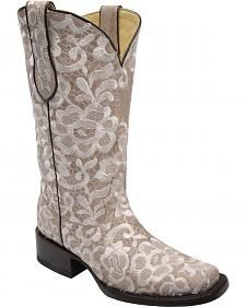 ae4d1b17a6e Corral Women's Lace Embroidered Cowgirl Boots - Square Toe | My Wish ...