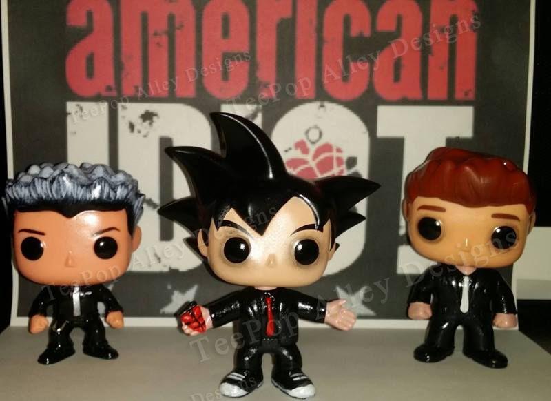 Teepop Alley Designs Green Day Customs Custom Pop Vinyl Green Day Pop Vinyl Figures