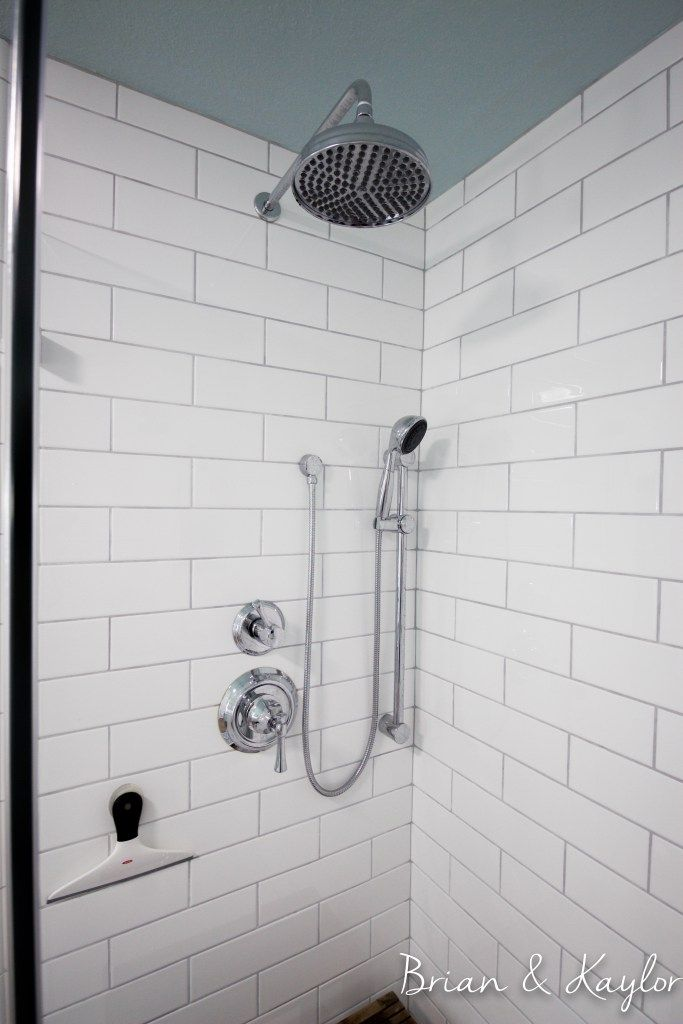 Fresh Polyblend Platinum grout with white glazed 4x12 tiles Brian and  UQ79