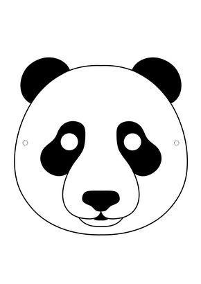 mascara de urso panda png 2480 3508 hallween party pinterest
