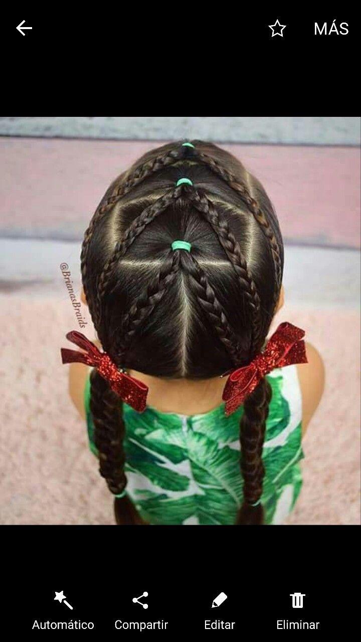 Pin De Karol G En Peinados De Nina Pinterest Trenzas Cabello Y
