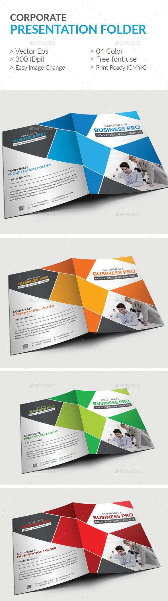 Presentation folder | Presentation folder, Template and Ai illustrator