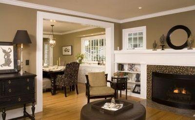 Taupe U0026 Black Living Room