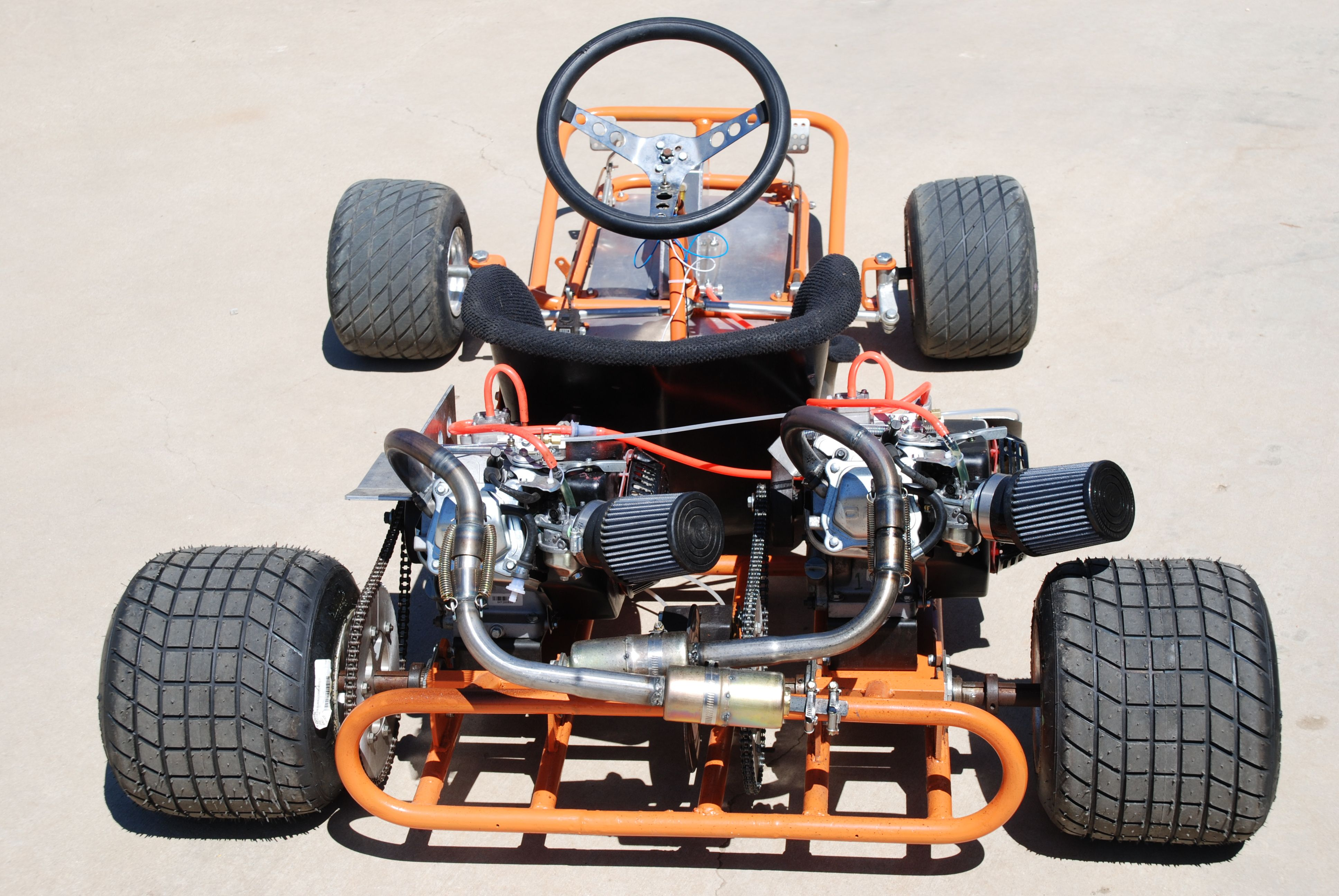 Twin Engine Go Kart With Two Clone Motors