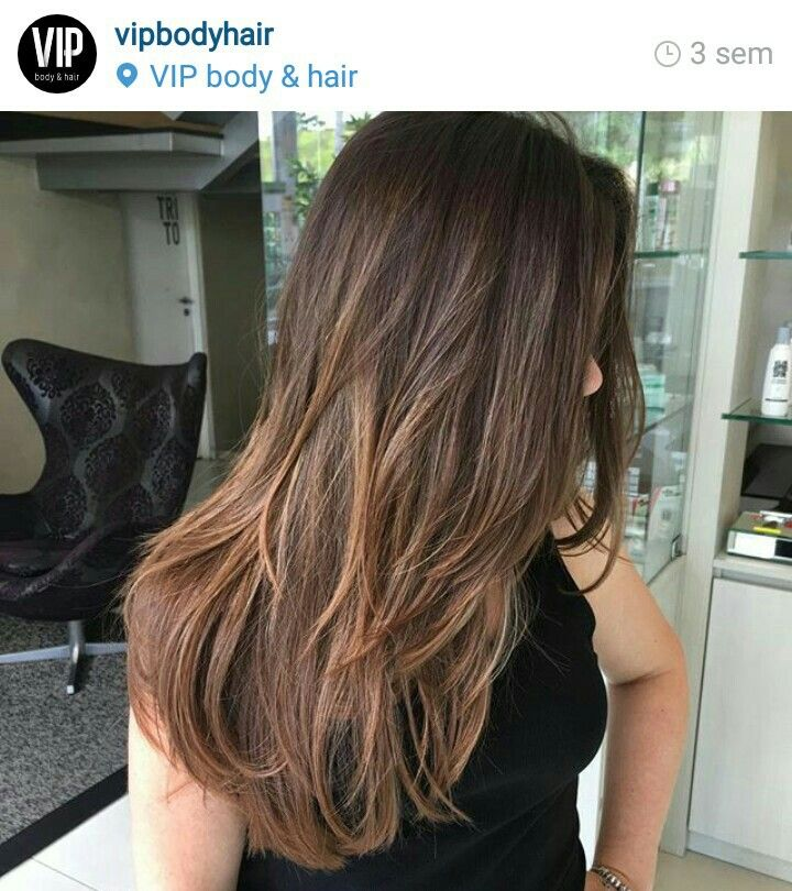 Morena Iluminada Luzes Hair Color