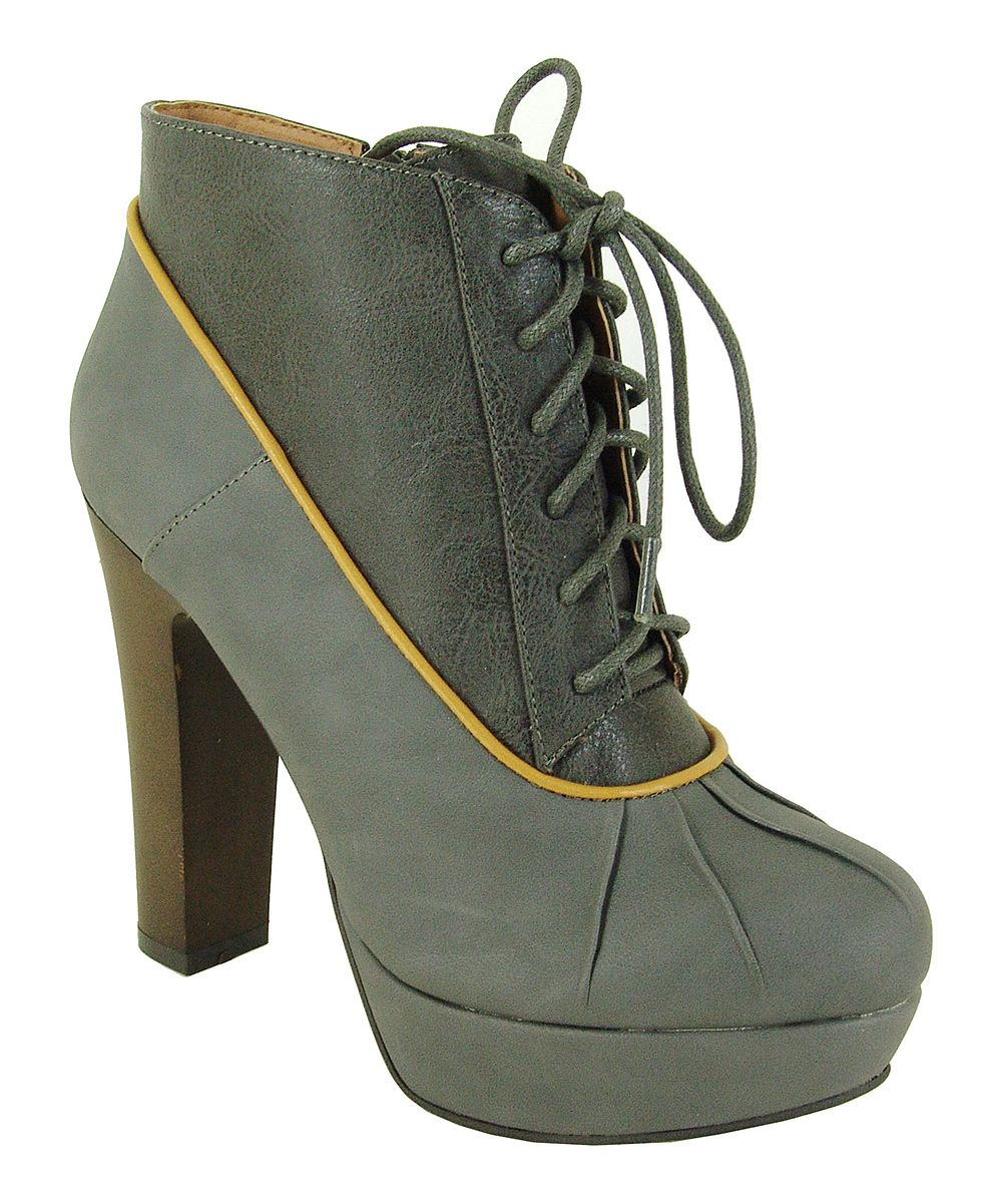 Gray Theron Bootie   zulily   #streetstyle