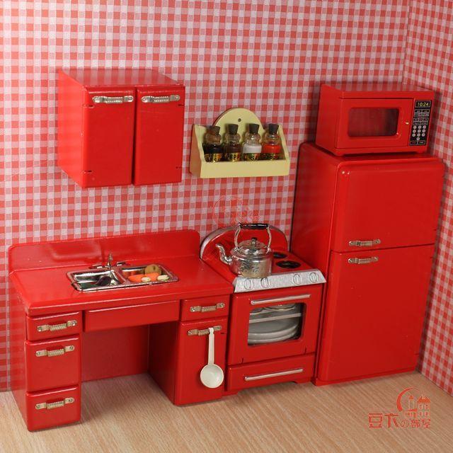 Envío libre 1 12 scale últimas novedades mini madera de la cocina