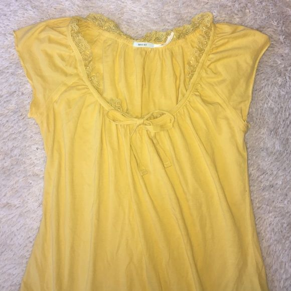 Yellow Urban Outfitters top Yellow summery top from Kimchi Blue by Urban Outfitters NWOT fits like a small Urban Outfitters Tops Blouses