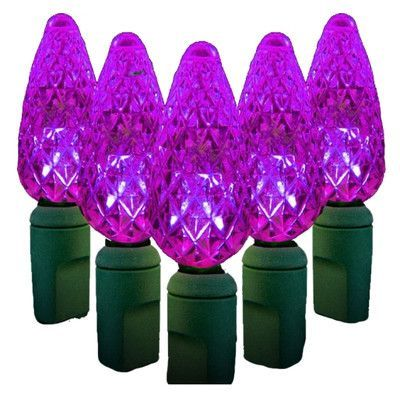 Queens of Christmas 35 Light LED String Light Bulb Color Purple