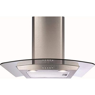 CDA ECP62SS Curved Glass 60cm Chimney Cooker Hood Stainless Steel