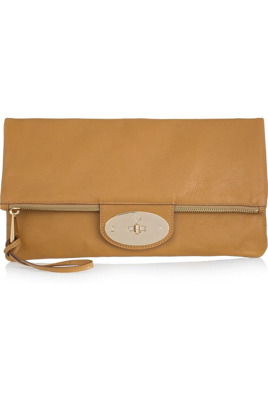 Mulberry - Oversized Postman's Lock leather clutch