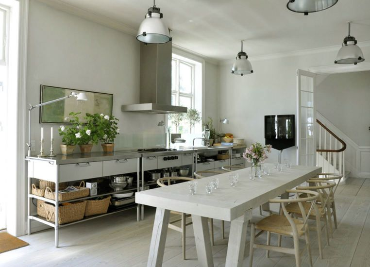 Freestanding kitchen cld have something simple as this