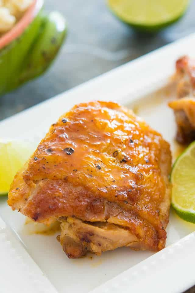 This simple Honey Lime Chicken Thighs recipe only calls ...