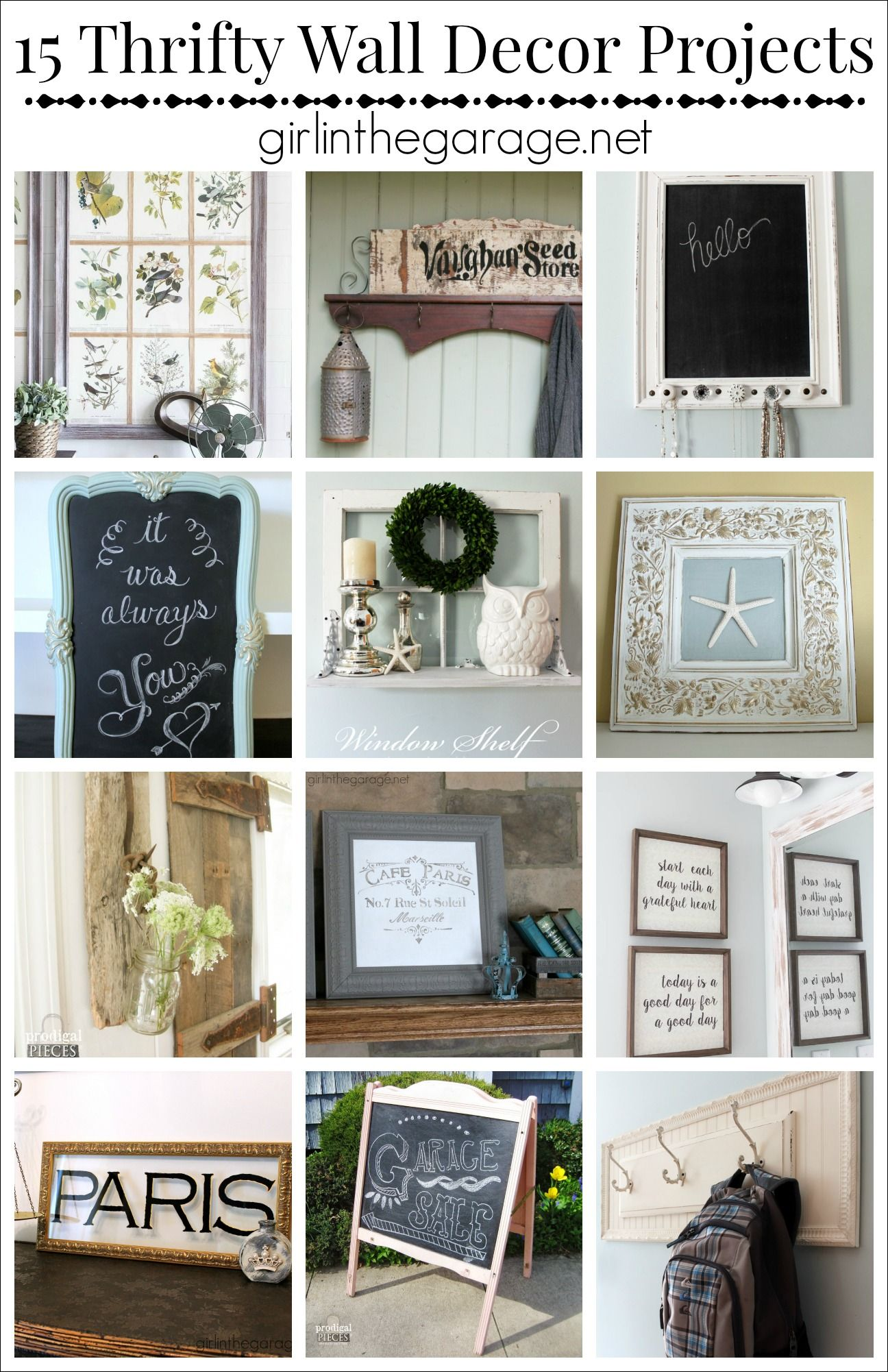 15 Thrifty Diy Wall Decor Projects Girl In The Garage Old Is New