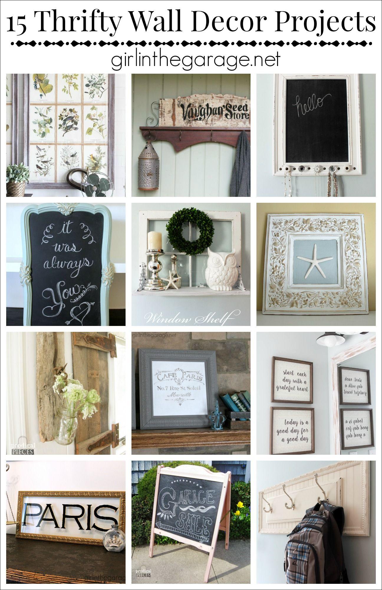 Beau 15 Creative DIY Wall Decor Ideas From Repurposed Items. Girlinthegarage.net