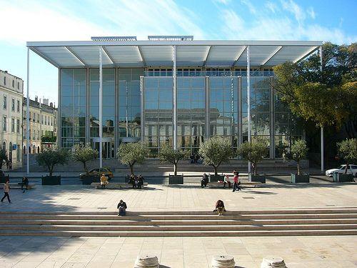 France Gard Nimes Carre D Art Arquitectura Moderna