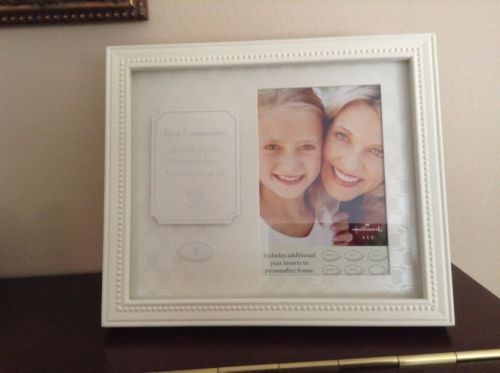 NEW ~First Communion Wood Picture Frame ~Hallmark ~holds 4\