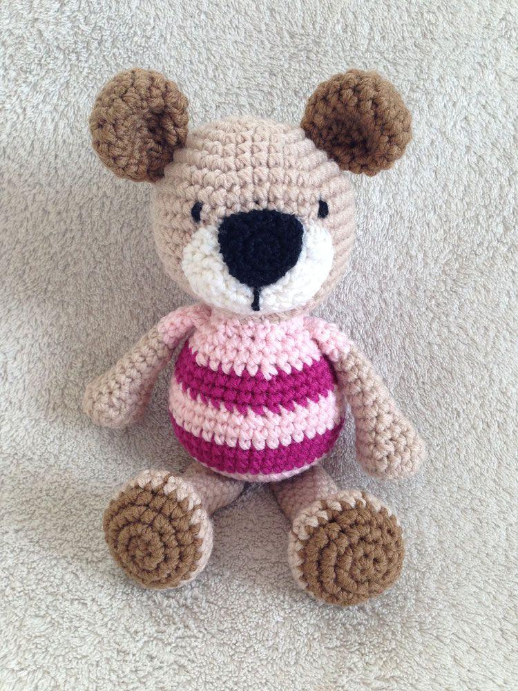 Bär Teddy gehäkelt   Häkeln   Pinterest   Teddy häkeln, Bären und Häkeln