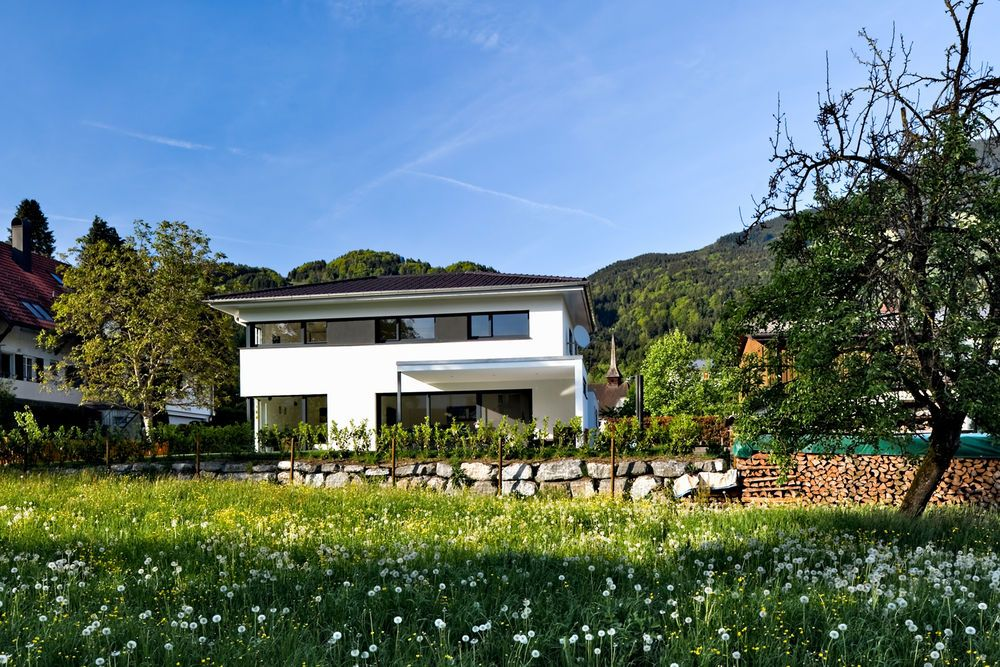 Einfamilienhaus Satteins Massivbau Pool Modernes Einfamlienhaus