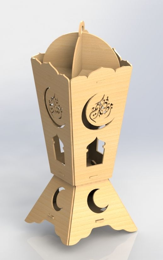 Ramadan Wood Laser Cutting DXF File Free Download | Islamic