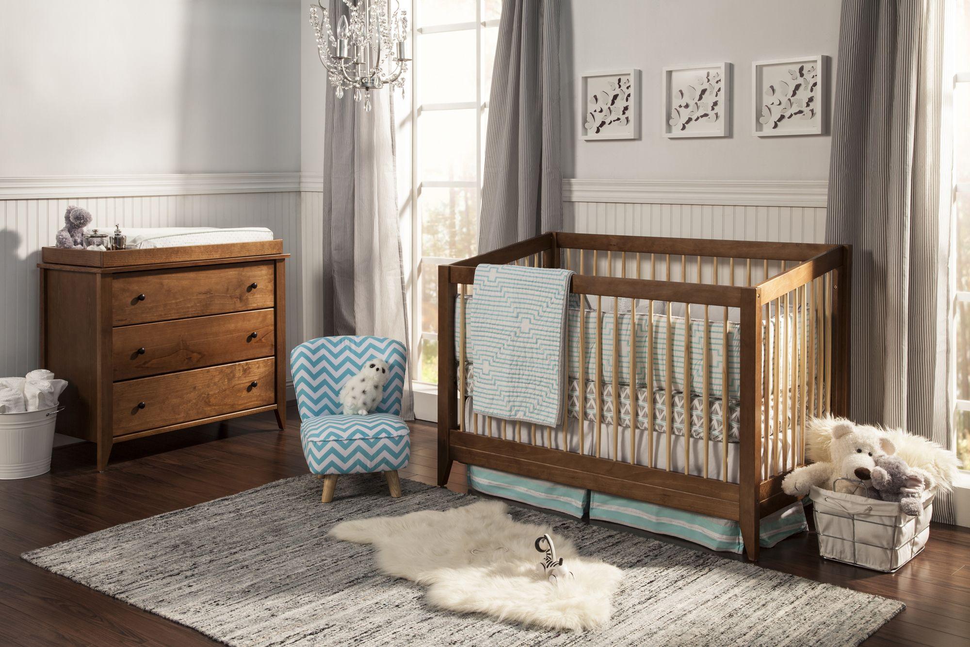 My New Nursery Set Highland 4 In 1 Convertible Crib With Toddler Rail Davinci Baby