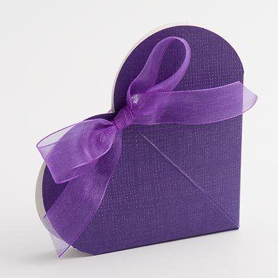 100 Cadbury Purple Heart Shape Wedding Favour Boxesamazoncouk