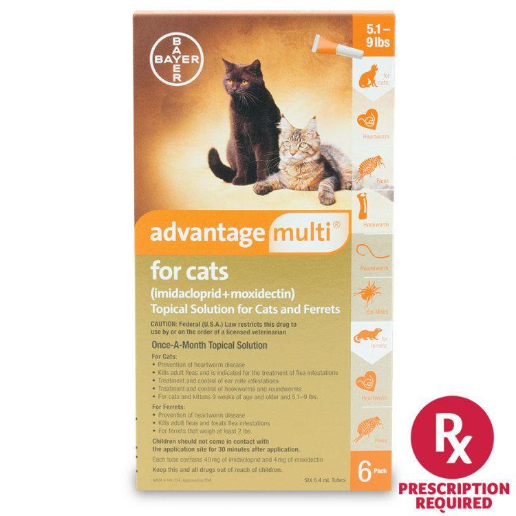 Advantage Multi For Cats Flea Tick Revival Animal Health Cats Dog Cat Heartworm Prevention