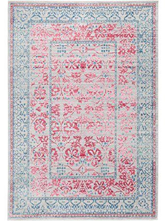 benuta Teppiche Moderner Designer Teppich Visconti Grau/Pink