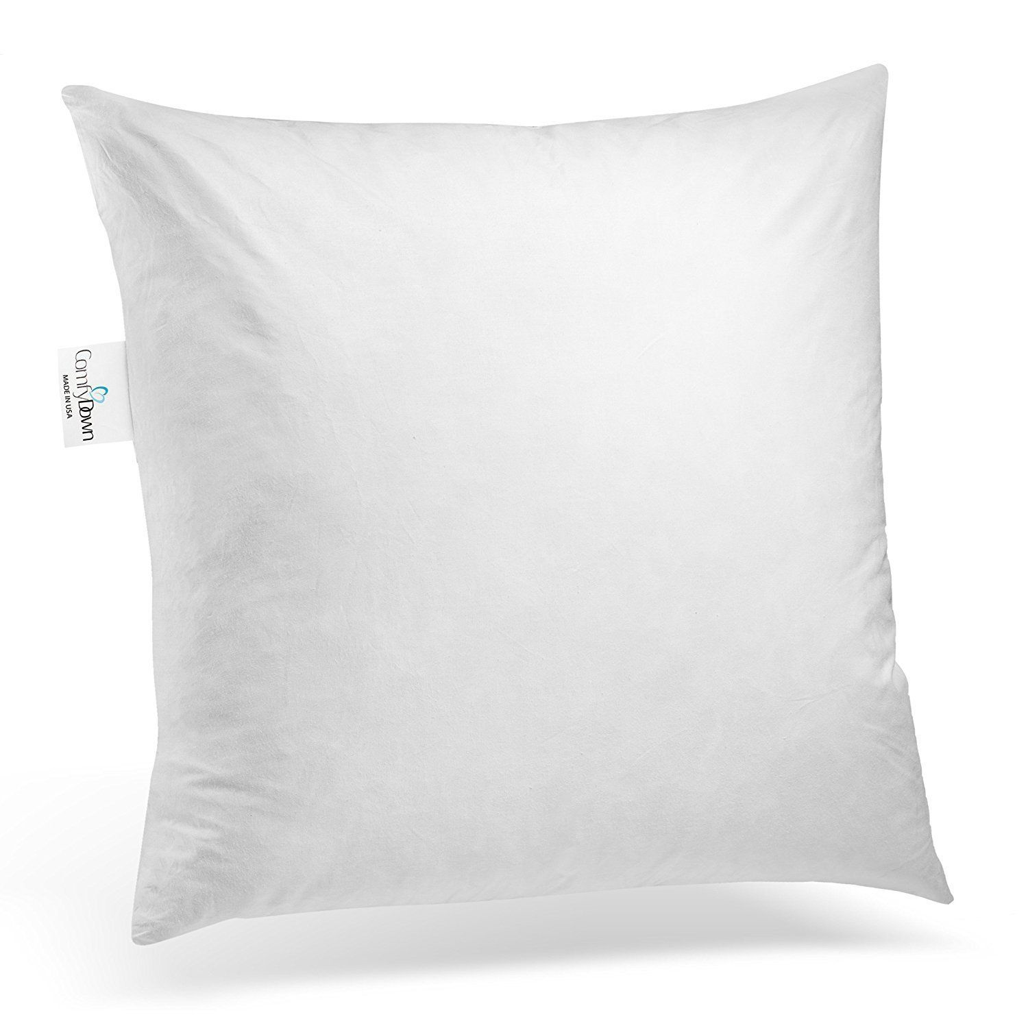 28X28 Pillow Insert Comfydown 95% Feather 5% Down 28 X 28 Square Decorative Pillow