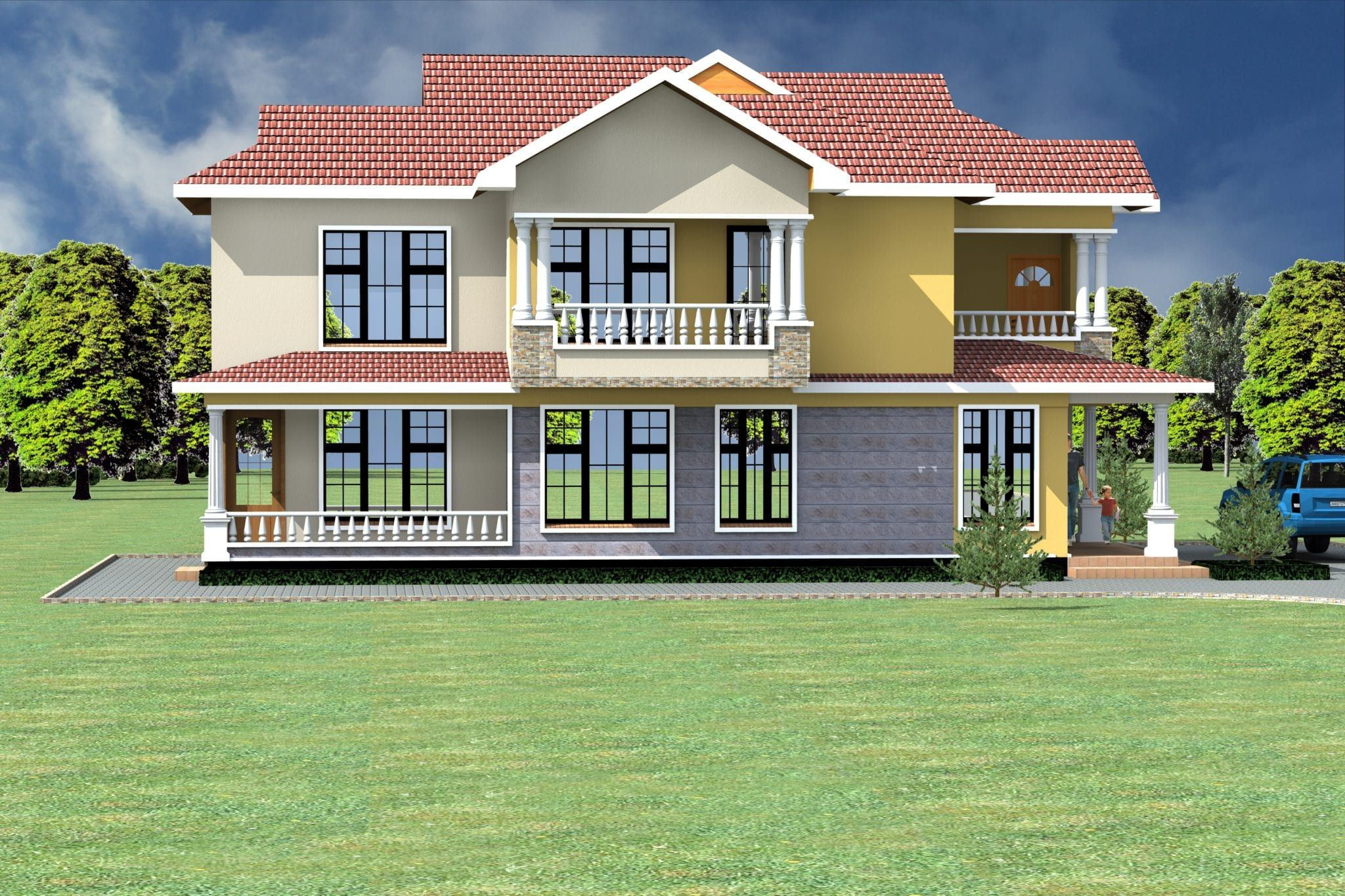 4 Bedroom Design 1088 A House Plans Architectural House Plans House Projects Architecture