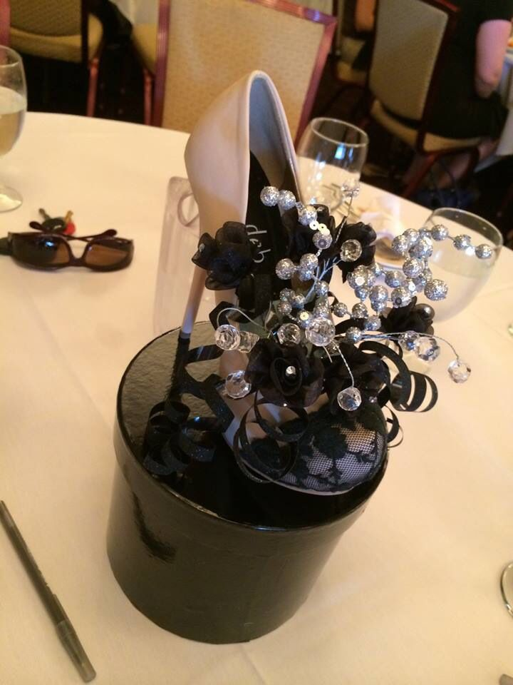 High heel centerpieces made these for my sisters wedding