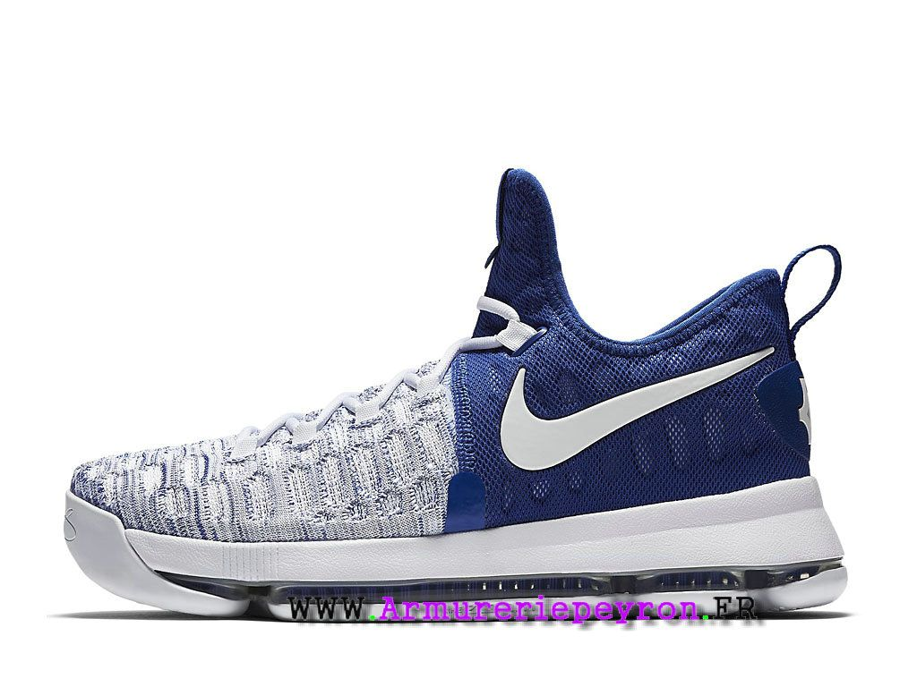 Chaussures De BasketBall Nike KD 9 Unlimited Prix Homme Bleu