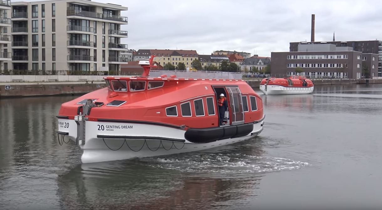 New Cruise Ship Tender And Lifeboat Being Tested Cruise Ship Cruise Ship