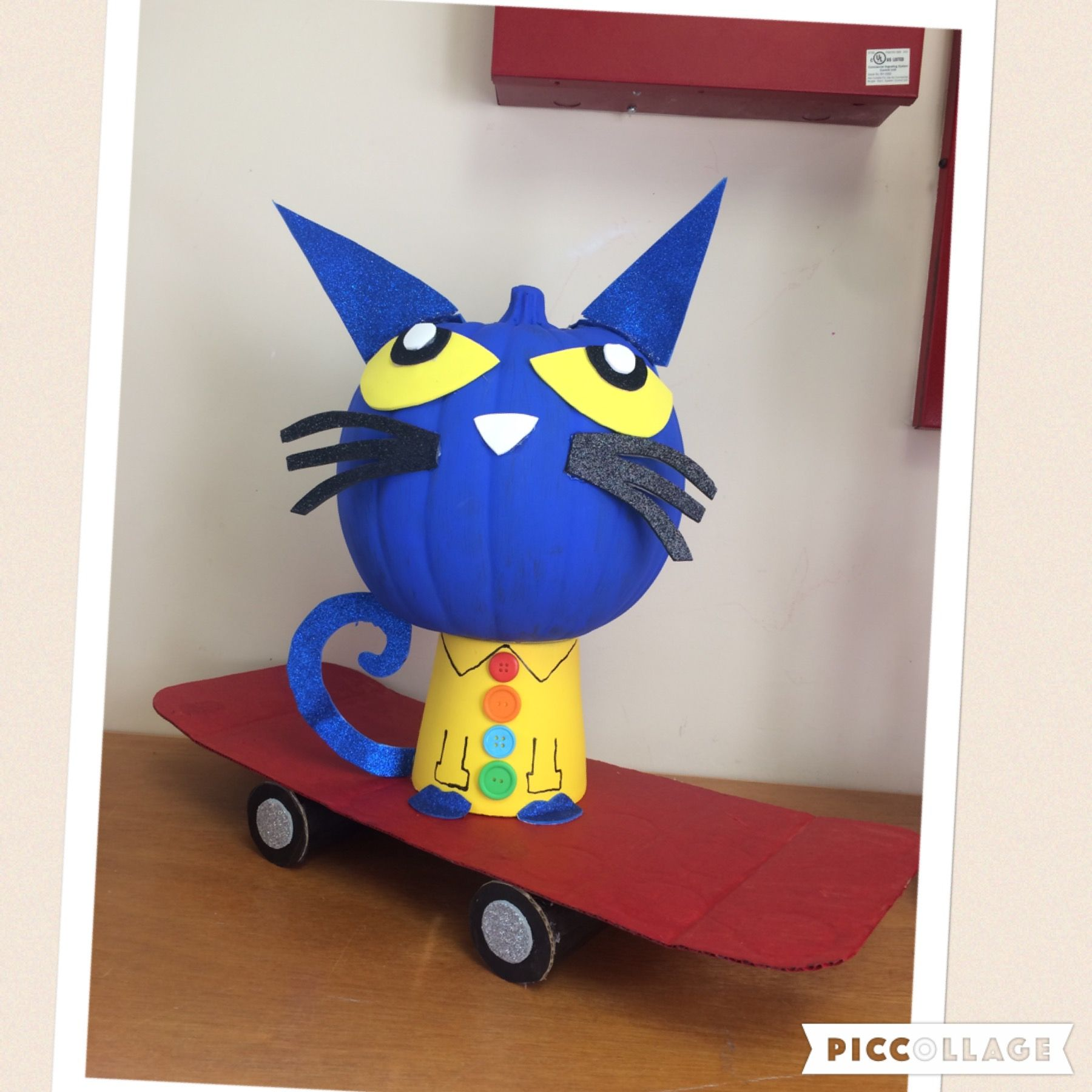 Craft Pumpkin Pete The Cat On A Skateboard And His 4