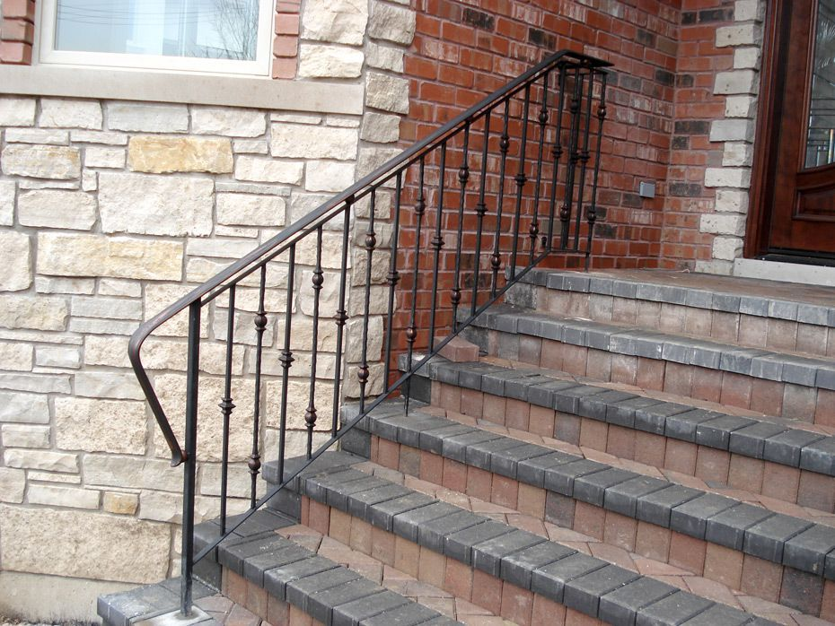 exterior front step railings | Stairs | Pinterest | Front steps ...