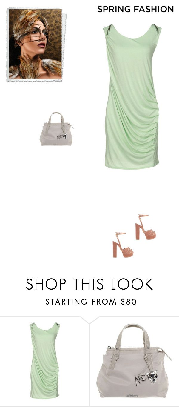 """Unbenannt #7420"" by pretty-girl-in-fashion ❤ liked on Polyvore featuring GUESS, MARC CAIN, Aquazzura, Guess, springfashion and MarcCain"