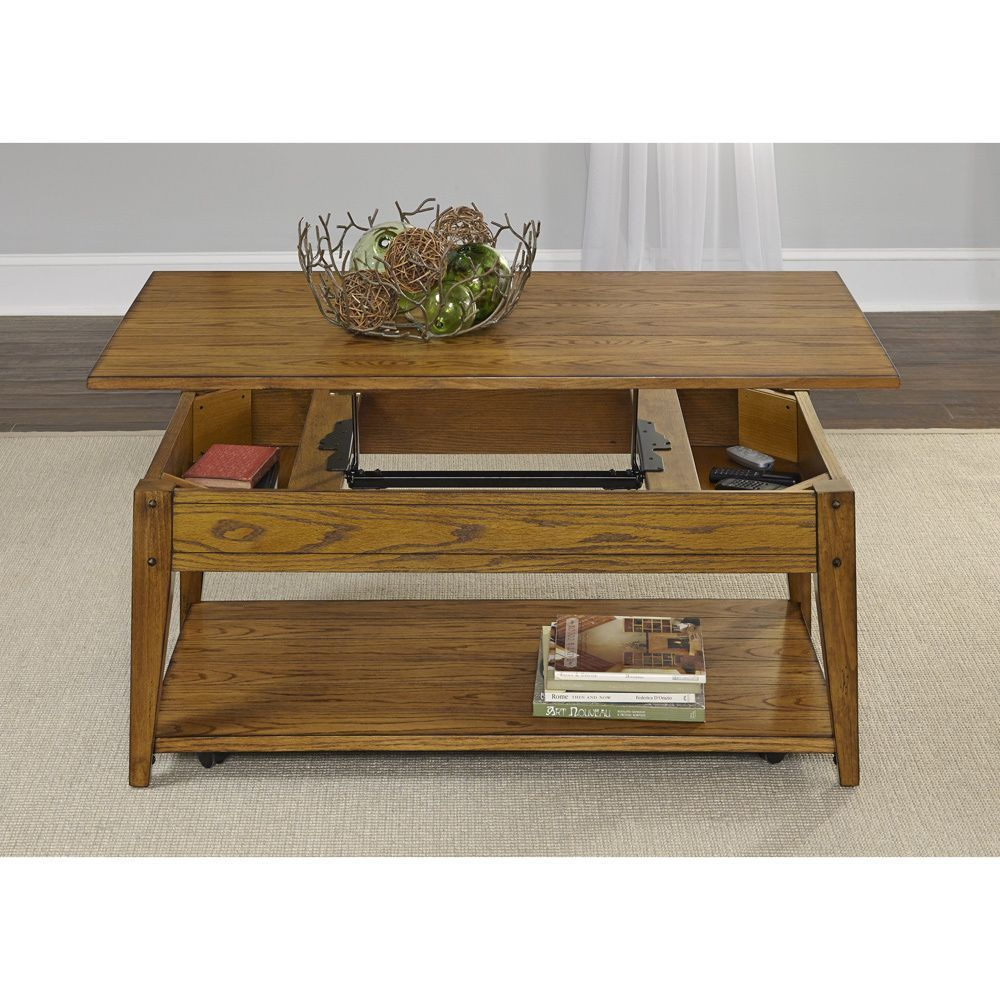 Lake House Oak Lift Top Cocktail Table Coffee Table Liberty