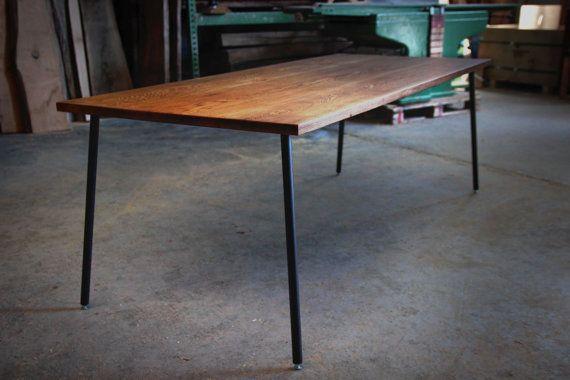 Esstisch Eiche Massiv Auf Metallbeinen Mira Oak Dining Table Modern Oak Dining Tables Dark Wood Table