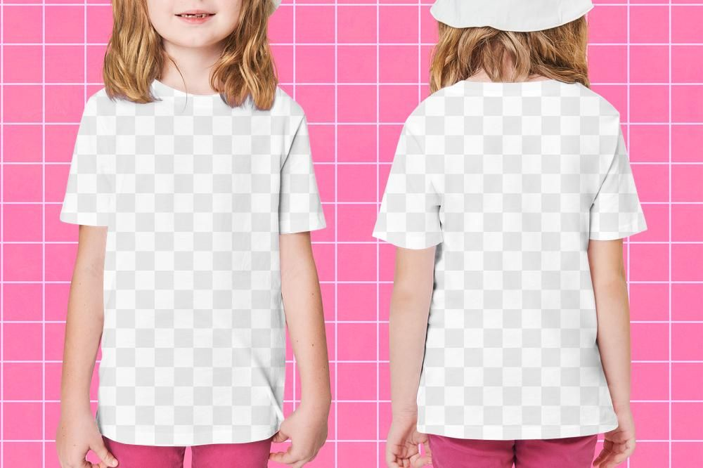 Download Premium Png Of Girl S Casual T Shirt Png Mockup Front And Clothing Mockup Casual Girl T Shirt Png
