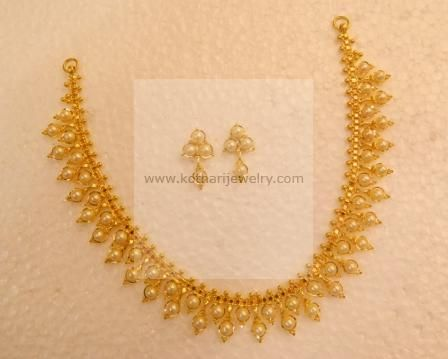 Gold Necklace Light weight 22kt Thusshi Gold Beads Necklace