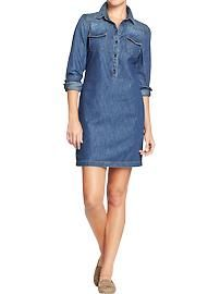 old navy's denim shirt dress | Denim women, Fashion, Clothes