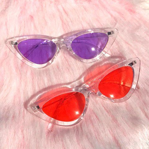 39555c16cc5be Badass retro cat eye sunglasses with white frames and tinted - Depop